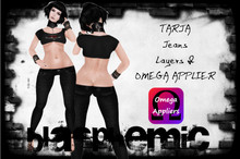 TARJA Jeans -black - by BLASPHEMIC - Layer & OMEGA Applier included