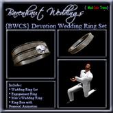 "{BWCS} ""Devotion"" Wedding Rings"