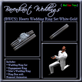 """{BWCS} """"Hearts"""" Wedding Rings White Gold"""