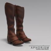 !APHORISM! Cavalry Boots - Chestnut