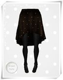 .::Y&R::.Backdrop Skirt Brown Dots