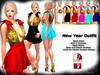 *Aly's Shop* NEW YEAR OUTFIT - Dress 6 Textures + Slink