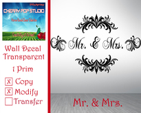 [CPS] Mr & Mrs Decal