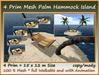 4 Prim Mesh Palm Hammock Island With Anim. 15x12m Size c/m