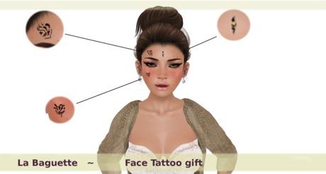 [La Baguette] Face Tattoo Gift