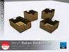[DD] - FULL PERM Ratan Basket Set