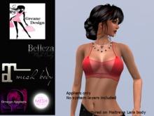 GreaneDesign Sheer Halter & Bra - Red - Omega, TMP ( TheMeshProject ), Belleza and Maitreya Appliers