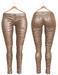 Blueberry Ross - Maitreya Lara & Belleza Venus & Slink Physique - Leather Pants (Boots Compatible) Beige