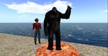 Big Foot / Sasquatch - Wildlife - particle rez - one prim / Copy