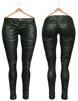 Blueberry Ross - Maitreya Lara & Belleza Venus & Slink Physique - Leather Pants (Boots Compatible) Evergreen