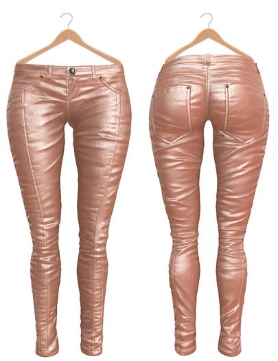 Blueberry Ross - Maitreya Lara & Belleza Venus & Slink Physique - Leather Pants (Boots Compatible) Pixie