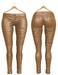 Blueberry Ross - Maitreya Lara & Belleza Venus & Slink Physique - Leather Pants (Boots Compatible) Tan