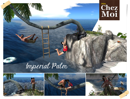 Imperial Palm Navy Love ♥ CHEZ MOI