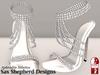 ! !SSD ~ Aphrodite Jeweled Stiletto (White Satin)