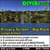 Privacy Screen - Big Rock - Jungle Edition