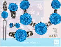 [MANDALA]SHIPPOAH Jewelry set -BLUE- (wear ME to unpack!)