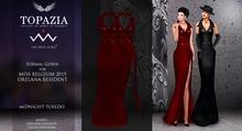 TOPAZIA-Midnight tuxedo RED