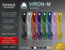 [ROSAL] VIRON-M Gloves - Fatpack (FitMesh)