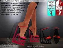 NC : #M034_Full Perm Love High Heels
