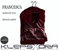 Klepsydra - Francesca Jacket&vest - Red