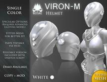 [ROSAL] VIRON-M Helmet - White (FitMesh)
