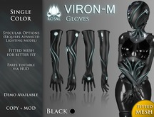 [ROSAL] VIRON-M Gloves - Black (FitMesh)