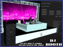 Animated DJ Booth with color changer