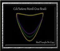 Mardi Gras Beads - Tri - Color Necklace