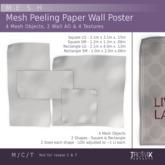 Trowix - Mesh Peeling Paper Wall Poster Mesh Pack