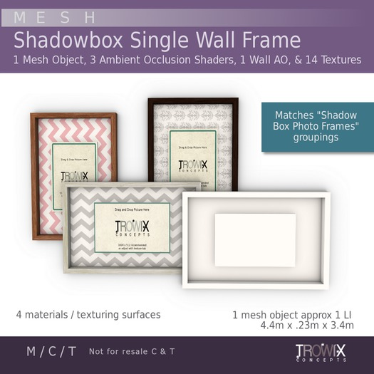 Trowix - Shadow Box Single Frame Mesh Pack