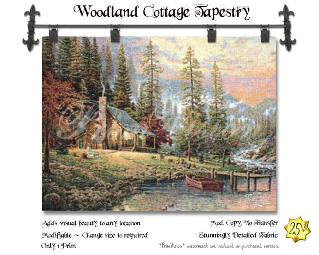 *PV* Woodland Cottage Tapestry