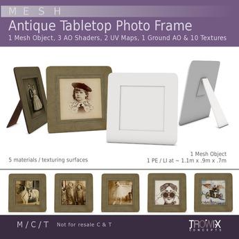 Trowix - Antique Cardboard Tabletop Frame Mesh Pack