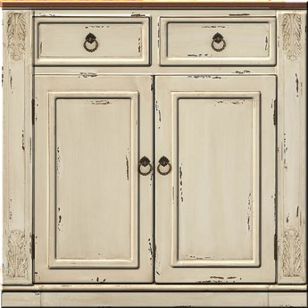 Antique Distressed White Double Door