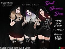 CuteBomb/Spellbound Colab Dark Sorceress Dress(Death)*WEAR*