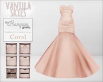 vanilla skies; harper gown - coral.
