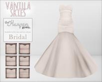 vanilla skies; harper gown - bridal.