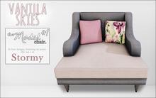 vanilla skies; model chair #1 - stormy