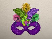 !!! Mardi Gras Mask by Sejolique