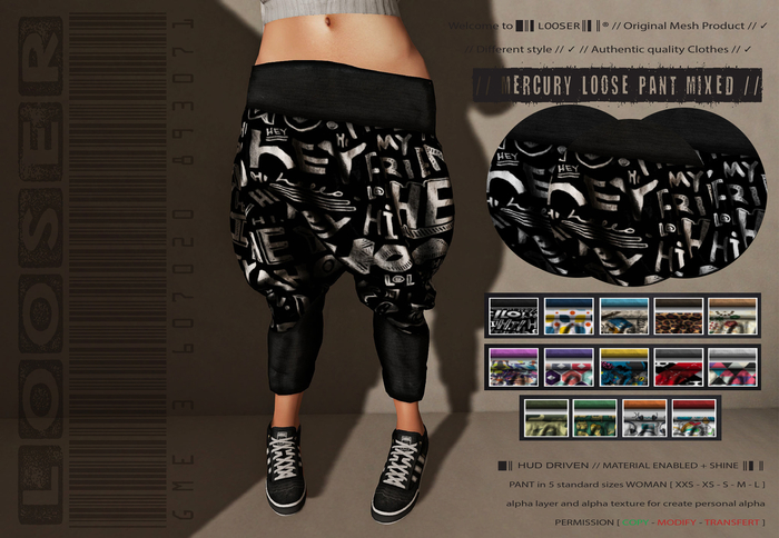 SPECIAL PRICE SALE  █║▌LOOSER ║▌║® // Mercury Pant MIXED EDITION // HUD MESH // MATERIAL ENABLED & SHINE