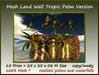 Mesh land wall tropic palm version 15prim 25x25x08m size c m