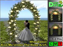 Kiss Me Under The Rose Arch - White Edition