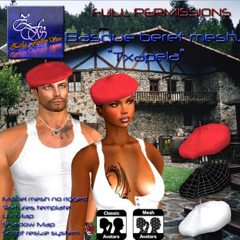 **Full perm-Basque beret mesh**