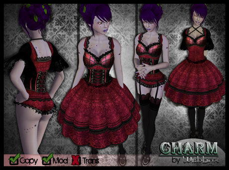 [Wishbox] Charm (Ruby Pink) - EGL Gothic Lolita Goth Victorian Corset Dolly Dress
