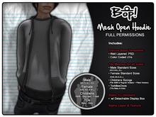 bop! Mesh Open Hoodies - Full Permissions