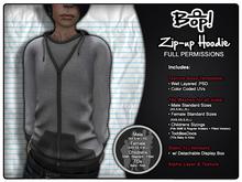bop! Mesh Zip-up Hoodies - Full Permissions