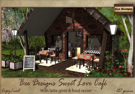 .:Bee Designs:. Sweet Love Cafe - Box