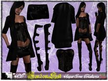 **SD** - FemMdom - ( Mesh Outfit ) High Heels Boots - Black