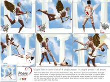 Cupid felt in love-Valentine couple & Valentine single pose set