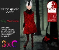 3xC-Gothic Winter Coat Outfit