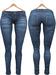 Blueberry Xale - Belleza & Maitreya & Standard Mesh - Boots Friendly & Regular Cut Jeans Blue